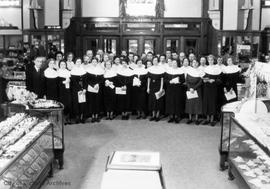 Hudson's Bay Choir performing the store at Christmas