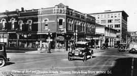 Terry's Drug Store, S.W. corner Douglas Street and Fort Street