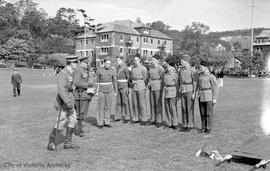 Cadets outside 3400 Richmond Road, University School