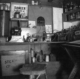 Henry and Anton Henderson's workshop in the basement at 522 Rupert Street (now Quadra)