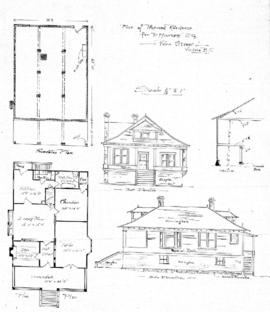 Plan of proposed residence for P. Manser Esq., Fern Street, Victoria, B.C.