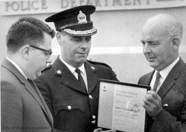 Esquimalt Mayor Ray Bryant and Police Chief James Smart receive award from Canadian Highway Safet...