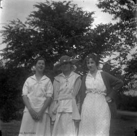 Ruth [McBride], myself [Mary Rattenbury] & Dolly [McBride] at their place