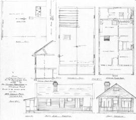 Plan of dwelling know as No. 24 Battleford Ave., Saanich, B.C., owned by Mr. Michael Riedlmeyer of 306 Gorge Road E., to be moved onto Lot 21, 489 Cecilia [sic] Road, Victoria, B.C.