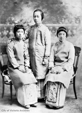 Mrs. Lee Mong Kow (daughter of Sam Kee), Mrs. Charlie Bo, and Mrs. Ting