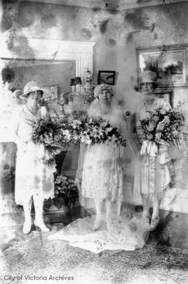 Margaret L. Sayward and Frank Forbes Wilson wedding 2 June 1927
