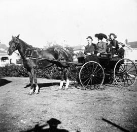 Cameron family with a horse and buggy