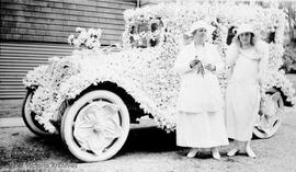 Mrs. J.O. Cameron's car decorated for the Victoria Day parade