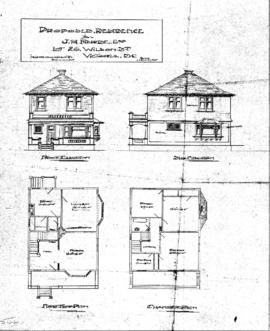 Proposed residence for J.H. Forde, Esq., Lot 26, Wilson St., Victoria, B.C.