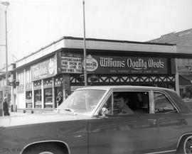 Williams' Quality Meats.  SW corner Fort and Blanshard Streets
