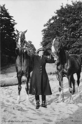 Madge Gillespie with horses Warwick Lily (left) and Sun