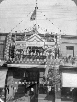 Chinese Empire Reform Association located at 1713 Government Street decorated for the visit of th...