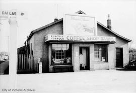 Coffee shop at N.E. corner of Dallas Road and Erie Street