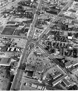 Aerial view of Douglas Street looking south from Hillside Avenue