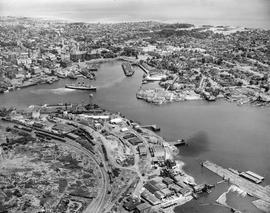 Aerial view of Victoria looking north east
