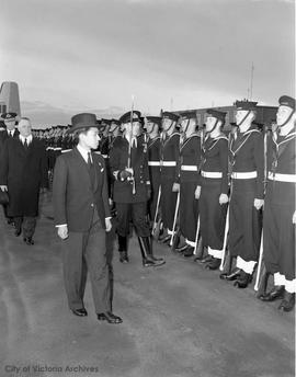 Visit of Japanese Emperor Akihito - at Pat Bay airport