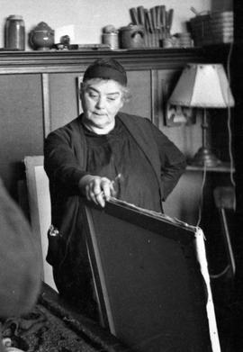 Emily Carr in her studio at 646 Simcoe Street