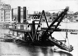 "Dredge ""King Edward"" in Inner Harbour"