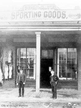 Barnsley & Collister, Sporting goods and gunsmiths 1321 Government Street