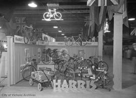 Harris' Bicycle shop display at Willows Fairgrounds