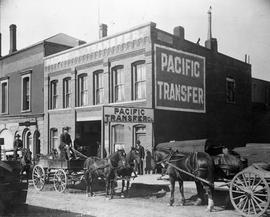 Pacific Transfer Co., lower Fort Street