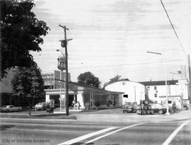 1150 Cook Street. Pacific 66 gas station
