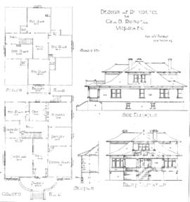 Design of residence for Geo. S. Russell, Victoria, B.C.