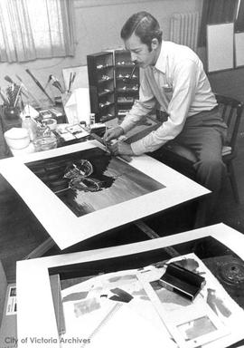 Brian Travers-Smith in his studio