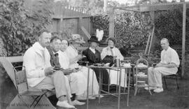 Garden party at Hatley Park when it belonged to Roland Stuart