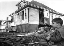 Demolition of houses on Lee Avenue to make way for Eric Martin Institute