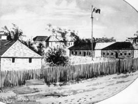 Fort Victoria looking S.E. Artist's impression