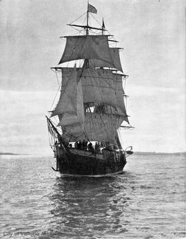 "Sailing ship ""Norman Morison"" from the New Zealand Herald (replica?)"