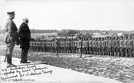 48th Battalion inspected by Lt. Gov. Barnard at Willows Camp