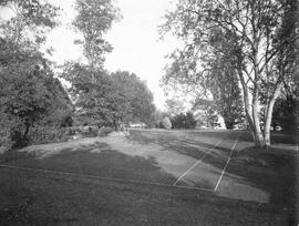 "Tennis court at ""Icheneel"", 1701 Beach Drive, Francis Mawson Rattenbury home"