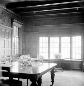 "G.H. Barnard family home at 1462 Rockland Avenue known as ""Duvals"", dining room"