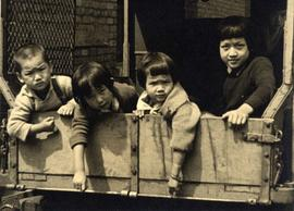 Chinese Children in the back of a truck