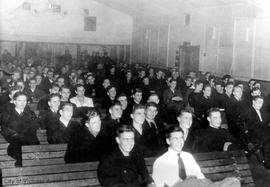 Sailors at HMCS Naden Cinema
