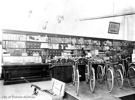 Barnsley's Sporting Goods and Gun Shop, 1321 Government Street, interior