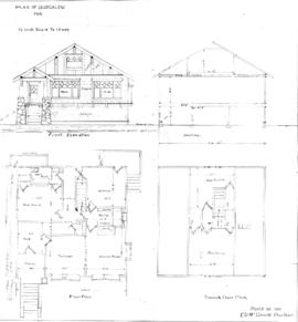Plan of bungalow for Lot 5, Block 71, Fairfield Road