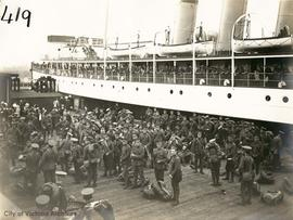 The departure of the 48th Battalion, Canadian Expeditionary Forces