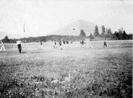 Lacrosse (?) game at Cowichan Bay