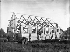 St. Mary's parish hall, Yale Street, under construction