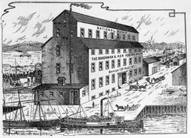 Brackman & Ker Milling Co. Ltd. flour mill and grain warehouse