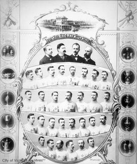 James Bay Athletic Association (JBAA) officers and prizewinners 1890-1894