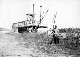 "Agnes Deans Cameron and the steamer ""Grahame"" on the Athabasca River"