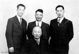 Executive members of the Chinese Public School Board.  Lim Bang, seated