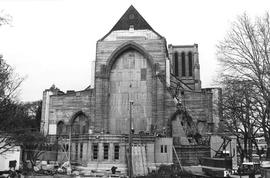 Christ Church Cathedral prior to completion of east wall