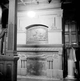 "Robert Dunsmuir family home known as ""Craigdarroch Castle"", fireplace"