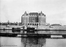 Empress Hotel under construction