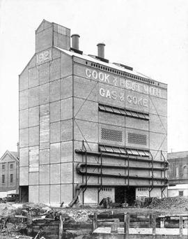 Original coal and gas plant of the Victoria Gas Works on Store Street